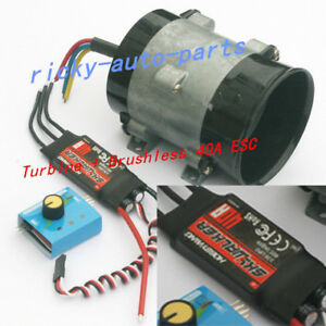 Car Electric Supercharger Turbos Intake Fan Boost 12v 16 5a With Esc40a Airplane