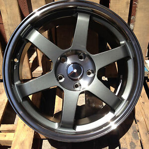 Te37 Grid Style 18x8 5 18x9 5 Staggered Rims Fit Bmw E46 325 330 E90 328 335