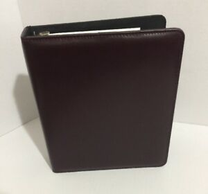 Dark Mahogany Franklin Covey Planner Binder Organizer Open Storage Rings