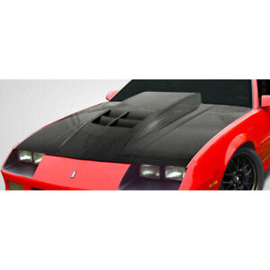 Carbon Fiber Zl1 Look Hood Body Kit 1 Pc For Chevrolet Camaro 82 92