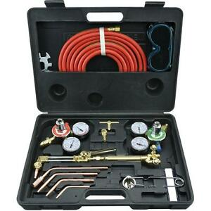 Gas Welding Soldering Cutting Torch Kit Acetylene Oxygen Professional Portable