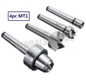 Wood Lathe Mt1 Live Center Drive Spur Cup 4pcs Set Wood Turning Morse Taper 1