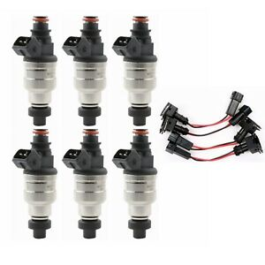 6 Pcs Set 2 5 Ohms 1000cc Fuel Injectors For Nissan Skyline Toyota