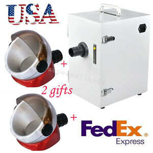 Usa Ce Dental Digital Single row Dust Collector Vacuum Cleaner 2x Suction Base