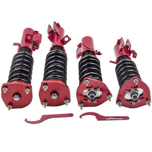 For Toyota Corolla 1988 1999 Full Coilover Suspension Lowering Kits Red