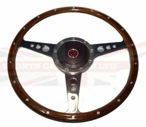 New 14 Wood Steering Wheel And Adaptor For Mgb 1970 76 Mg Midget 1970 77 43wfr