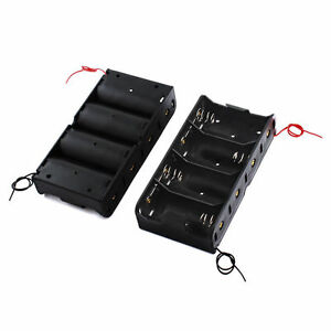 2pcs D Battery Power Supply Holder Holds Case Box 1 5v Dc 4 Cells R20 With Wire