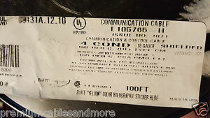 General Cable carol C9131a 18 4c Exzel High Endurance Control comm Wire 50ft