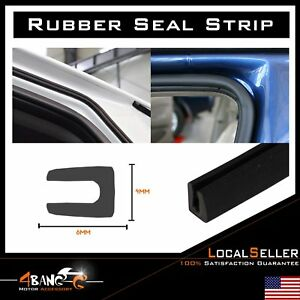 180 U Channel Rubber Weather Strip Seal Trim Car Door Edge Guards Protection