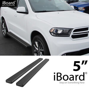 Running Board Side Step Nerf Bars 5in Aluminum Black Fit Dodge Durango 11 21