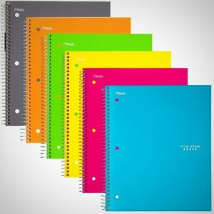 Five Star Spiral Notebook 1 Subject College Ruled Paper 100 Sheets 11 X 8 1 2