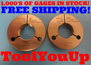 1 628 36 Ns Thread Ring Gages Go No Go P d s 1 6098 1 6080 Inspection Tools