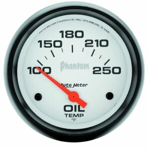 Auto Meter 5847 2 5 8 Phantom Electric Oil Temperature Gauge 100 250 F