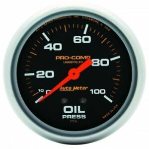 Auto Meter 5421 2 5 8 Pro comp Mechanical Oil Pressure Gauge 0 100 Psi