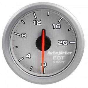 Auto Meter 9145 ul 2 1 16 Airdrive Egt Gauge 0 2000 f Air core Silver