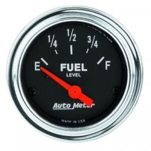 Auto Meter 2517 2 1 16 Traditional Chrome Electric Fuel Level Gauge 0 30 Ohm