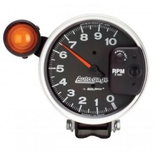 Auto Meter 233904 5 Autogage Shift Light Pedestal Tachometer 0 10 000 Rpm