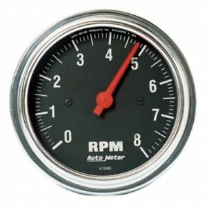 Auto Meter 2499 3 3 8 Traditional Chrome Electric Tachometer Gauge 0 8 000 Rpm