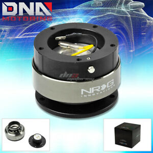 Nrg Gen 2 0 5 hole bolt Patten Steering Wheel Quick Release Hub Black Body ring