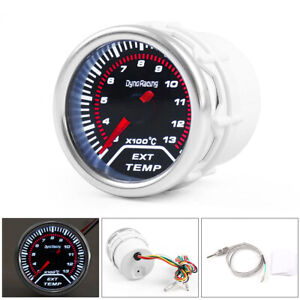2 52mm Universal Car Exhaust Gas Temp Temperature Gauge Egt Meter Smoke Lens