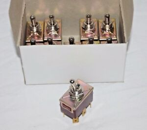 Lot Of 10 Toggle Switches Dpdt 250v 10a On on No Off Position