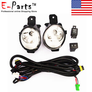 For Nissan Pathfinder 2013 2016 Clear Lens Bumper Driving Fog Lights switch New