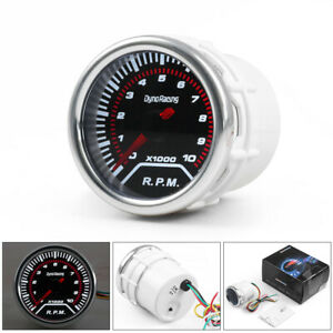 2 52mm Car Tachometer Gauge Tacho Meter White Led 0 8000rpm Smoke Lens Tint