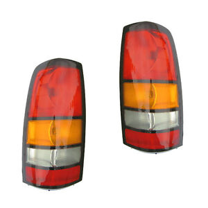 Fits 2004 2006 Gmc Sierra Driver Passenger Tail Light Lamp Assembly 1 Pair