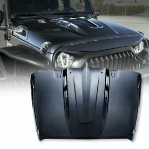 Xprite Steel Hood With Air Vents Avenger Series Metal For 07 18 Jeep Wrangler Jk