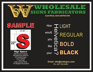 Led Illuminated Channel Letters Signs For Your Business store 22 h