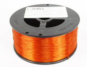 Enameled Amber Copper Magnet Wire 24g 5925ft Long 7 5lb Spool