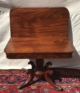 19th C Classical Federal Antique Game Card Table Console Isaac Vose Boston