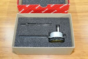 New Starrett Back Plunger Dial Indicator With Deep Hole Attachment 0 5mm 0 01mm