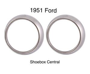 1951 51 Ford Car Head Light Door Bezel Ring New