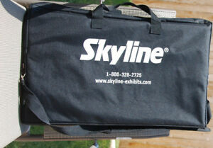 Skyline Literature Stand For Exhibits Collapsible With Airplane Carry On Case