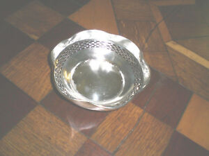 Manchester Pierced Sterling Silver Candy Dish Bowl Circa 1910 046