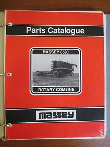 Massey Ferguson 8590 Combine Parts Catalog Manual