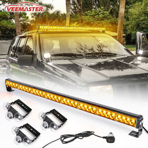 36 13 Modes Traffic Advisor Emergency Warning Strobe Light Bar Kit amber