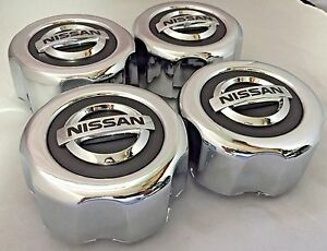 4 New Nissan Pathfinder Frontier Wheel Center Hub Caps 40315 89p15 Chrome