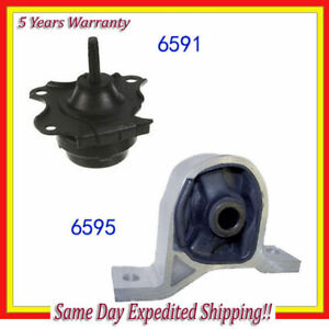 Front Motor Mount Kit W At 2pcs For 2001 2002 2003 2004 2005 Acura El 1 7l M115
