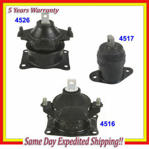 Front Rear Motor Mount Kit For 2004 2005 2006 2008 Acura Tsx 2 4l W At M076