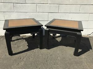 Coffee Table Bench Cocktail Pair Accent End Tables Chinese Chinoiserie Ming Mcm