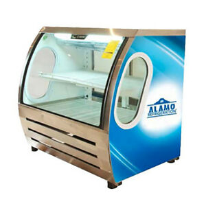 Criotec 48 Curved Glass Refrigerated Bakery Deli Meat Display Cold Case New