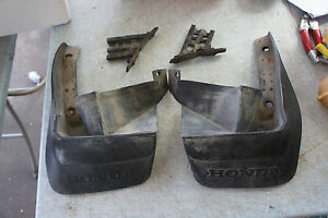 Jdm Honda Civic Ef2 Sh4 Kouki Si Rear Mudflaps Mug Guards Flippers Bumper Splash