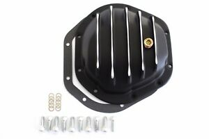 Black Finned Aluminum Dana 44 Rear End Differential Cover Jeep Ford Dodge