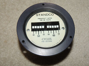 Standco Frequency Meter Pf 10 100 150volts Power Line Monitor In Box