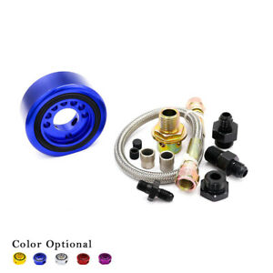 Aluminum Oil Filter Sandwich Adapter Plate Turbo Oil Line Kit For Acura Honda