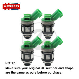 4x New Oem Fuel Injectors For 96 04 Nissan Pickup Frontier Xterra 2 4l Js4d 2