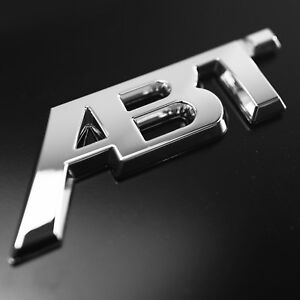 1 Brand New Abt 3d Adhesive Rear Badge Chrome Emblem Fits Audi Vw Chrome Abt