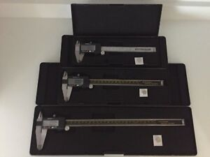 6 8 12 Digital Caliper Set Hardened Stainless Steel Free Shipping